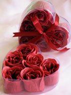 Rose Petal Soap Red